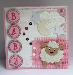 Gemaakt door Joke # Babykaart met schaapje #5