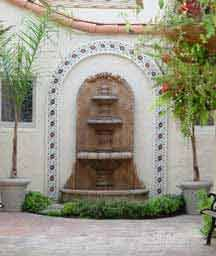 Mission Revival Fountain in Fullerton