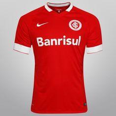 Camisa Nike Internacional I 14/15 s/nº - Jogador - Vermelho+Branco