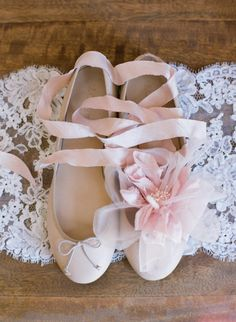 ballet shoes--for the bride who wants to be comfortable and the same height as her man. :)