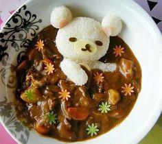 curry with rice. コリラックマのカレーライス。