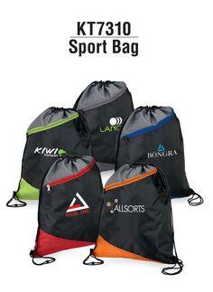 d09009a4dbfd Drawstring sport bag features a zippered pocket