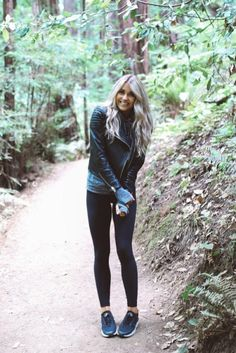 justthedesign:  Cara Loren is wearing a grey knit long-sleeve...