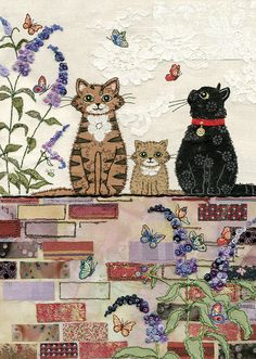 Cats on a Wall by Jane Crowther