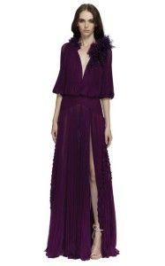spectacular dress !! #slit dark plum #floorlength gown