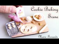 Miniature Polymer Clay Cookie Baking Scene Tutorial - YouTube