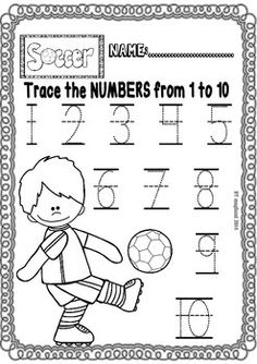 Soccer Fun Set (Ready to print Worksheets for Maths and ELA centers) – SummerBlue Creative Curriculum, Preschool Curriculum, Preschool Worksheets, Preschool Activities, Kindergarten Activities, Sports Activities, Homeschooling, Soccer Theme, Worksheets