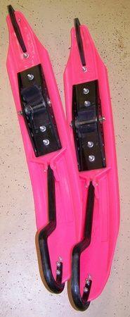 USI X2 Triple Pink Snowmobile Skis