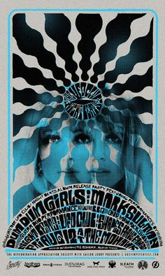 Artist Rob Fitzpatrick ( dum dum girls /The UFO Club / Night Beats ( gig poster / modern  psychedelic art / concert poster screen print / silk screen )