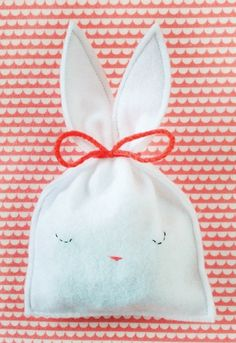 easter, bunny, rabbit, bunny pouch, bunny bag, diy, craft, easter craft, gift