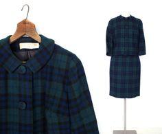 Vintage Pendleton Suit / 1960s Suit / Black by SmallEarthVintage, $64.00