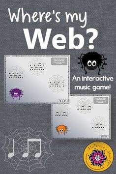 This interactive music game will be a hit with your elementary music students. Perfect for fall, October, around Halloween or anytime when you are working with rhythm!