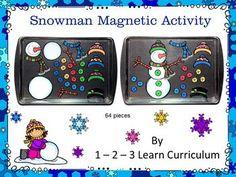 Build a Snowman Magnet Activity. Oil Drip PansBuild ...