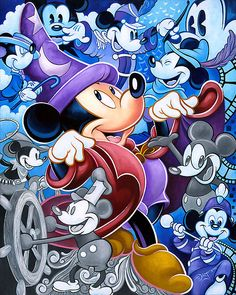 Mickey Mouse - Celebrate the Mouse - Tim Rogerson - World-Wide-Art.com