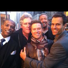The men of All My Children - Jessie, Tad, J.R., Jack and Ryan