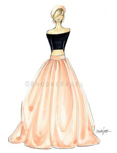 Charlie Fashion Illustration by Brooke Hagel by brooklit on Etsy