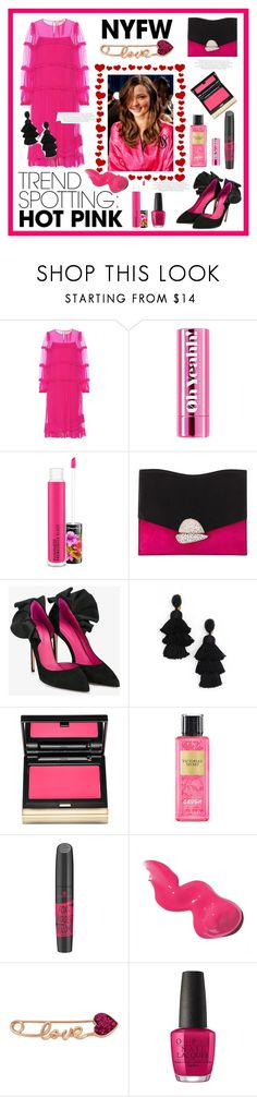 """#TrendSpotting : Hot Pink"" by kanares ❤ liked on Polyvore featuring N°21, MAC Cosmetics, Proenza Schouler, Oscar Tiye, Oscar de la Renta, Kevyn Aucoin, Victoria's Secret, Bobbi Brown Cosmetics, Betsey Johnson and OPI"