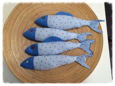 Four Fabric Fish