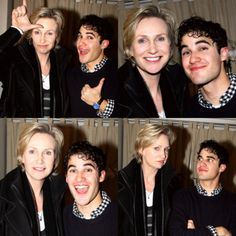 Jane Lynch and Darren Criss...two of my favorite people on Earth!!