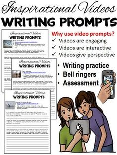 Looking to incorporate writing prompts into your classroom, but wanting to spice it up by using technology? These inspirational video writing prompts are an effective method for assessing a student's writing ability, comprehension, and critical thinking skills.
