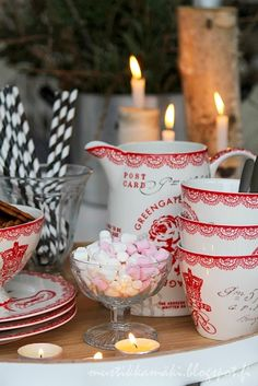 Christmas hot cocoa bar.