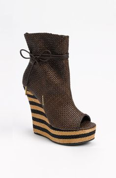 Burberry Peep Toe Boot available at #Nordstrom