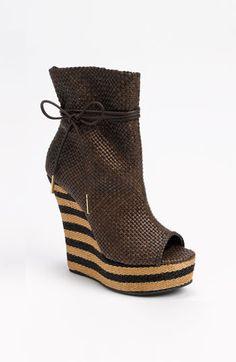 Burberry Peep Toe Boot