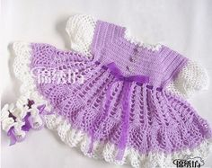 vestidos para bebe a ganchillo patrones (1)