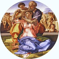 Tondo Doni, Michelangelo Buonarroti, tempera su tavola, 1503-1504, Galleria degli Uffizi, Firenze