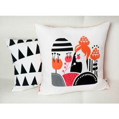 Pillow Cover in Woodland Flora's Fields by Darling Clementine