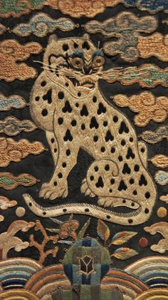 500_28393556 Asian Tigers, Chinese Embroidery, Matchbox Art, Tiger Art, Textile Fiber Art, Cool Rugs, Textile Patterns, Furry Art, Fabric Art