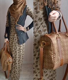 simple hijab with patterned dress? yes please