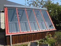 Solar Kiln - The Solar panel faces due South