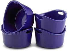 Rachael Ray Stoneware Set of 4/10-oz. Bubble & Brown Singles: Blue at Rachael Ray Store