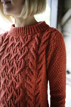 Beautifully cabled pullover FREE PATTERN