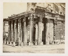 Italia, Roma, Tempio di Antonino e Faustina  Vintage albumen print. Tirage alb | Collections, Photographies, Anciennes (avant 1900) | eBay!