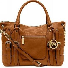 Welcome To Our Michael Kors Leigh Large Brown Satchels Online Store -- I need this bag in my life. | See more about brown satchel, bags and handbags.