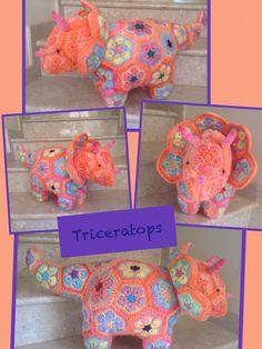 Heidi Bears African Flower Triceratops Www.facebook.com/Hookedonhandicrafts