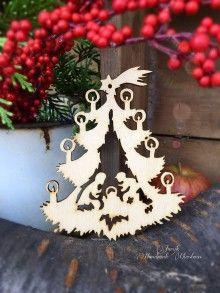Dekorácie - Vianočný výrez Betlehem - stromček (C7) - 7133694_