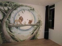 Leeuwenkoning kamer ! Lion king by Anja s muurschilderingen