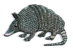 TEXAS ARMADILLO EMBROIDERED IRON ON PATCH/APPLIQUE