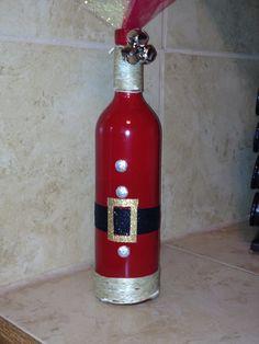 Santa Wine Bottle decoration
