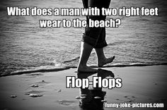 Funny Man With Two Right Feet Beach Wear Joke | Funny Joke Pictures