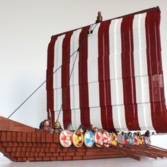 This is a Viking ship that perfectly suits it's minifigure Viking crew. I wanted a viking ship for a long time, now i am finally done. It was definitely not easy to get the correct shape of the hull, it was a real accomplishment for me when i got that right. This ship was a real challenge to build, because of the shape of the hull, but i succeed using tiles along the sides, making it look sleek. I have looked at a tons of pictures of Viking ships and the Gokstad-ship is one this model is…