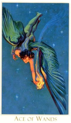 Victorian Romantic Tarot — Ace of Wands