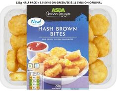 Asda Hash Brown Bites Syns for half packet Asda Slimming World, Slimming World Tips, Slimming World Recipes Syn Free, Shopping List Grocery, Food And Drink, Cooking Recipes, Treats, Dishes, Ethnic Recipes