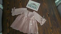 Örgü elbise #kızbebek #knitting Kanavice #carpıisi #etamin