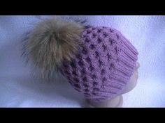 Вязание шапки узором соты.Knitting hats pattern cell.. Link download: http://www.getlinkyoutube.com/watch?v=wt13iZFfedc