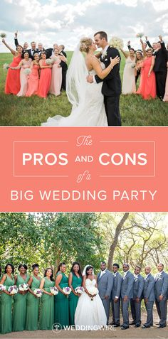How to find the perfect wedding videographer check out our tips the pros and cons of a big wedding party see a breakdown of the pros junglespirit Gallery