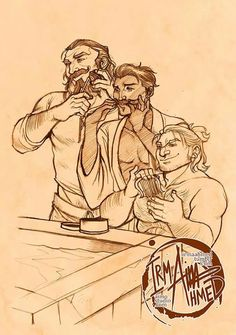 "Dragon age Blackwall, Dorian and Varric......I say this a lot and I'm Ganna say it again ""True men have hair"" so these guys are awesome."